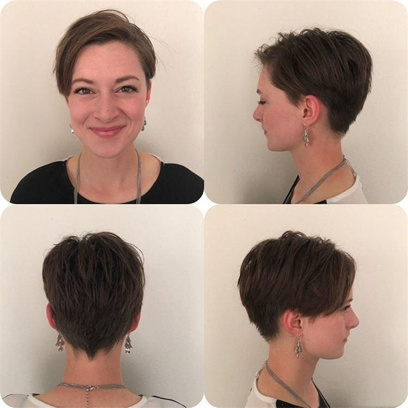Cool Short Pixie Haircuts Front And Back View 28