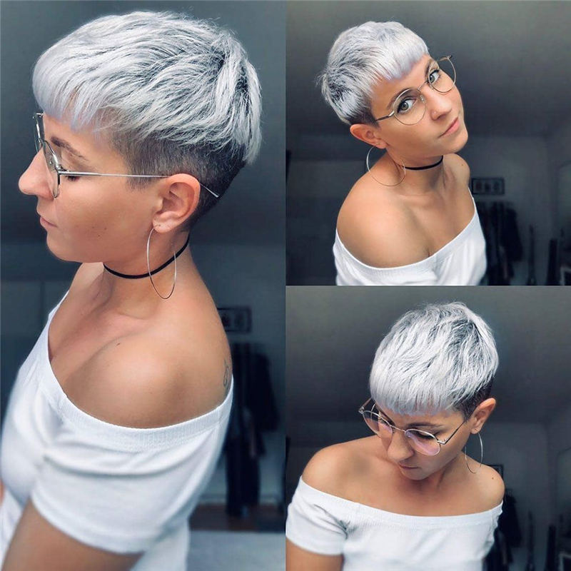 Cool Short Pixie Haircuts Front And Back View 29