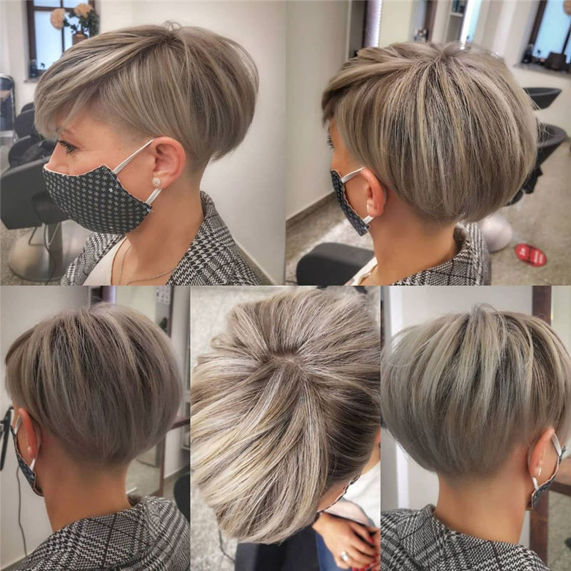 Cool Short Pixie Haircuts Front And Back View 31