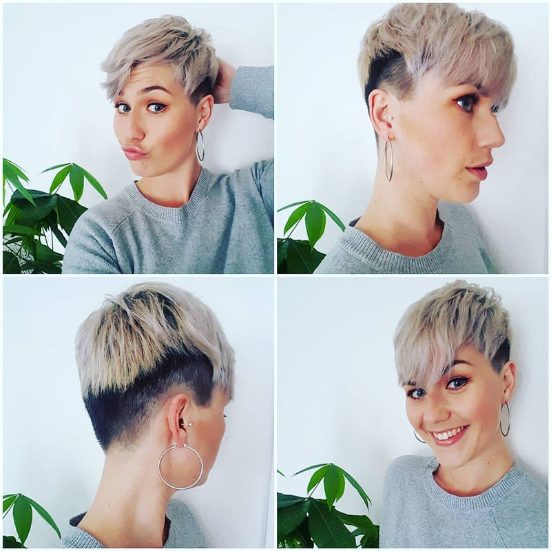 Cool Short Pixie Haircuts Front And Back View 32