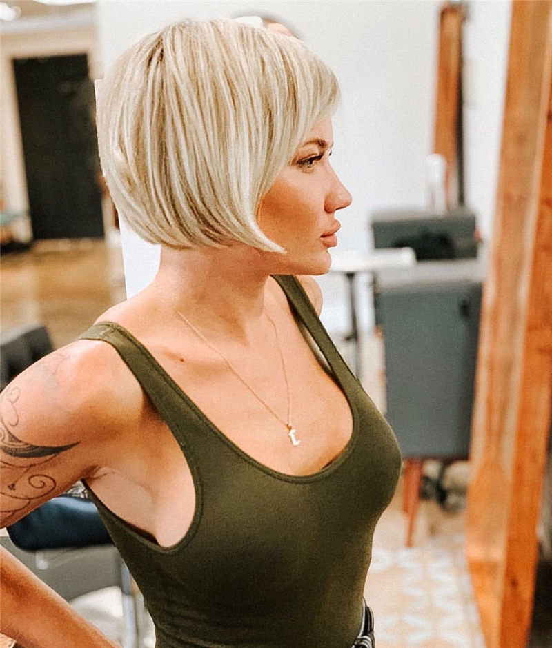 Cute Bob Haircuts with Bangs You Cant Miss in 2020 02