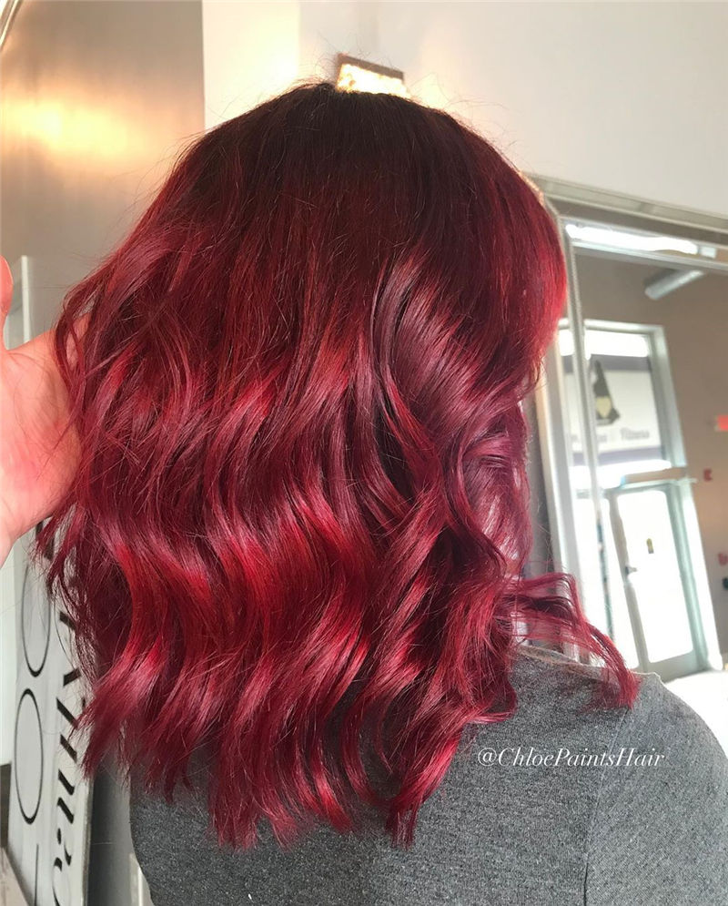 Pretty Dark Red Hair Color for Your 2020 02