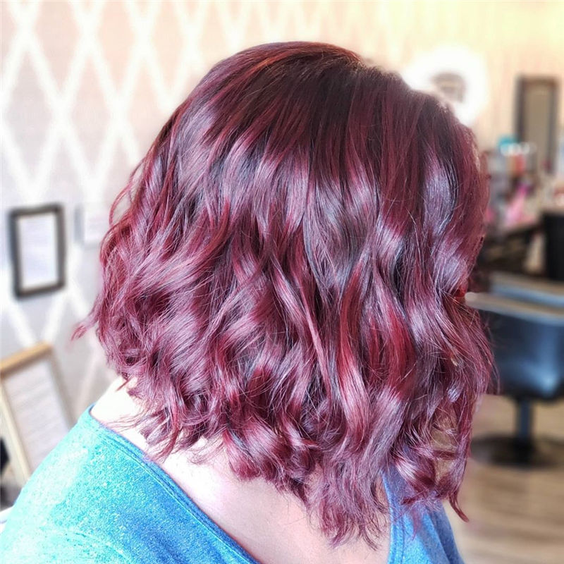 Pretty Dark Red Hair Color for Your 2020 16