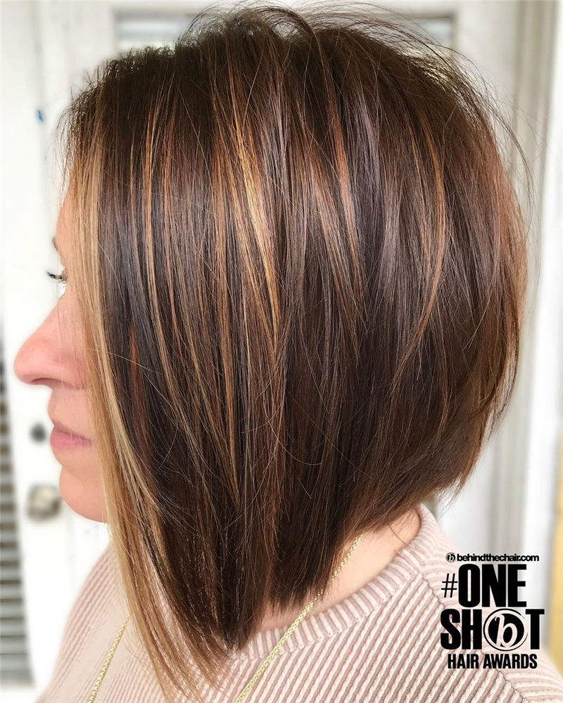 Best Layered Bob Hairstyles For 2021 14