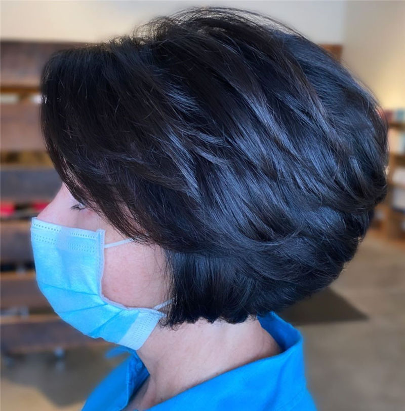 Best Layered Bob Hairstyles For 2021 32