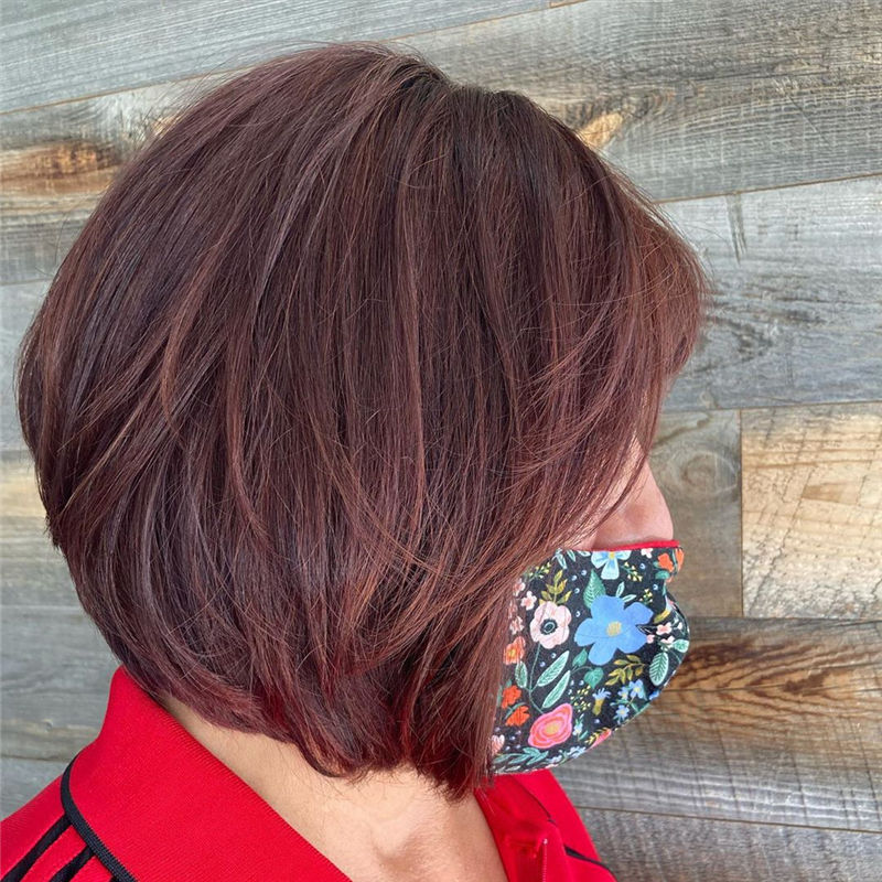 Best Layered Bob Hairstyles For 2021 33