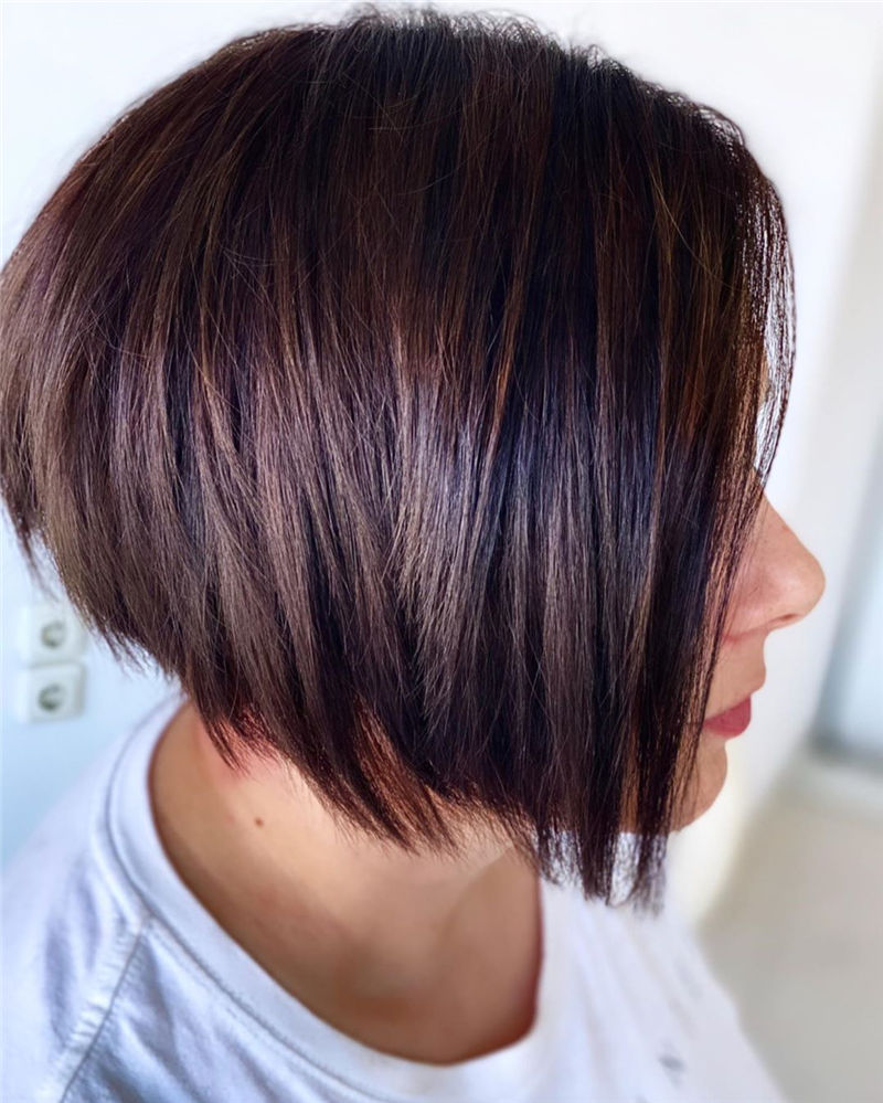 Best Layered Bob Hairstyles For 2021 37