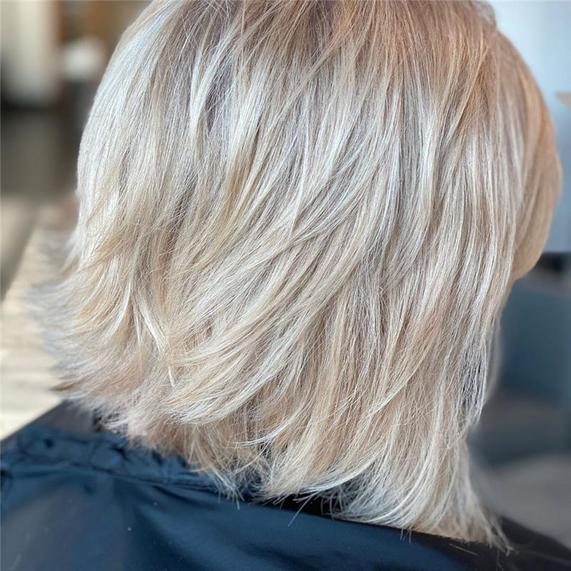 Best Layered Bob Hairstyles For 2021 44