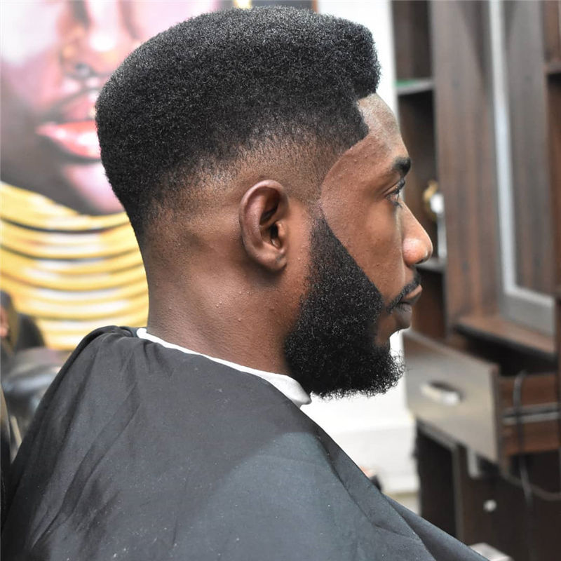 Stylish Fade Haircuts for Black Men 2021 08