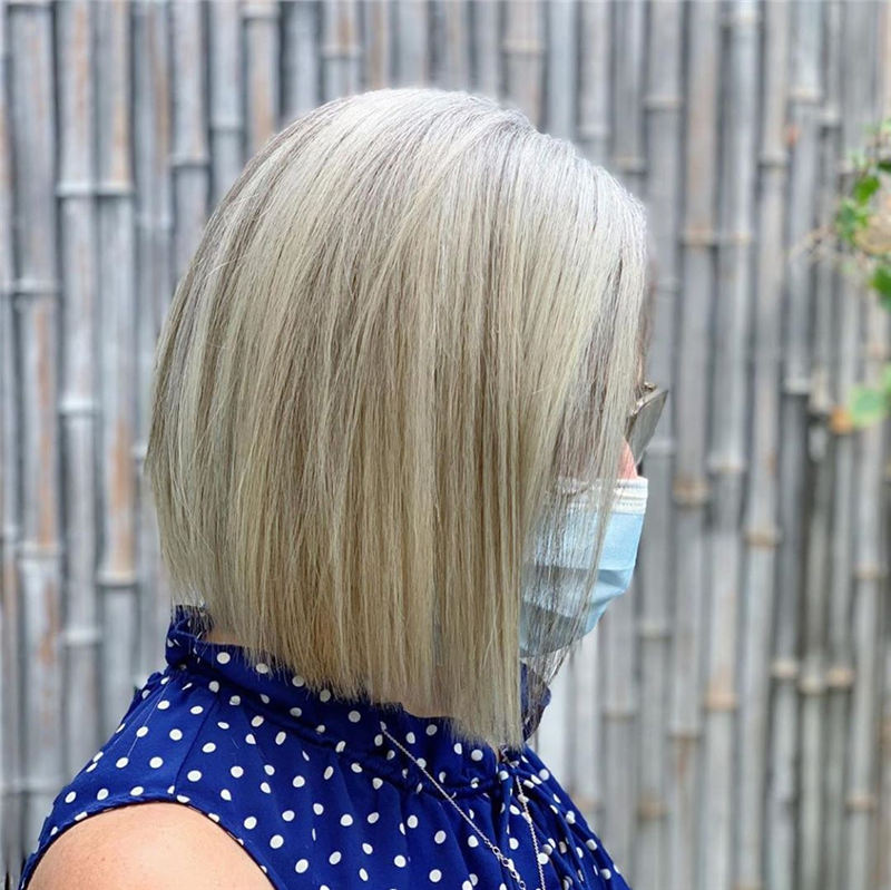 Amazing Blunt Bob Hairstyles Youd Love to Try in 2021 01