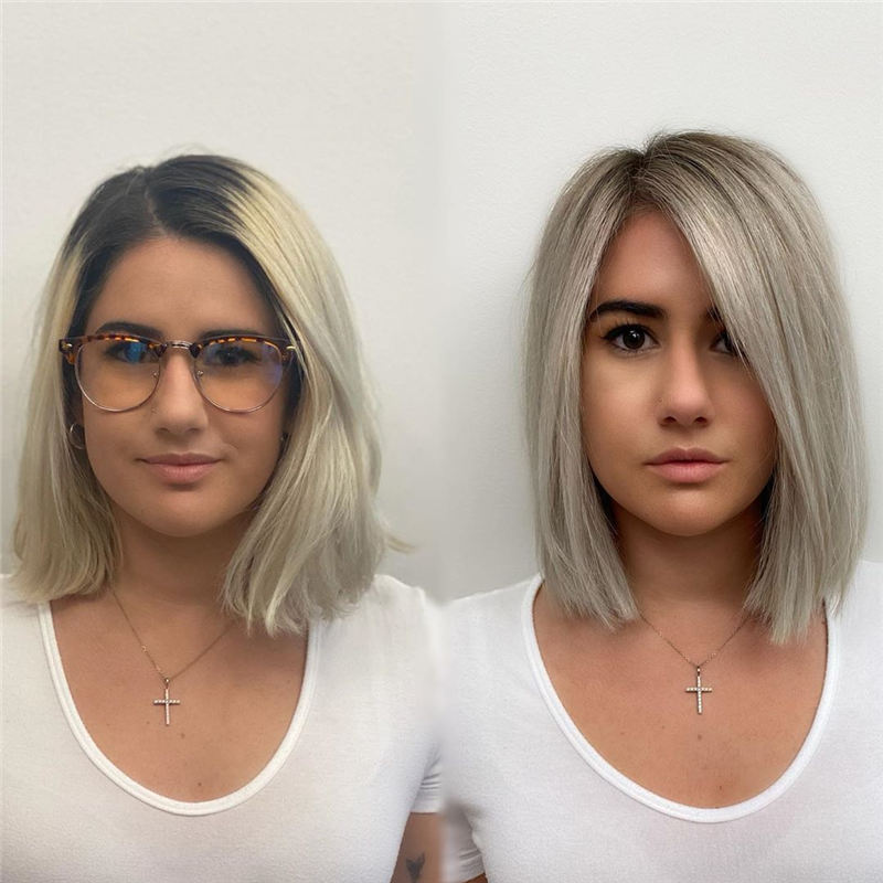 Amazing Blunt Bob Hairstyles Youd Love to Try in 2021 02