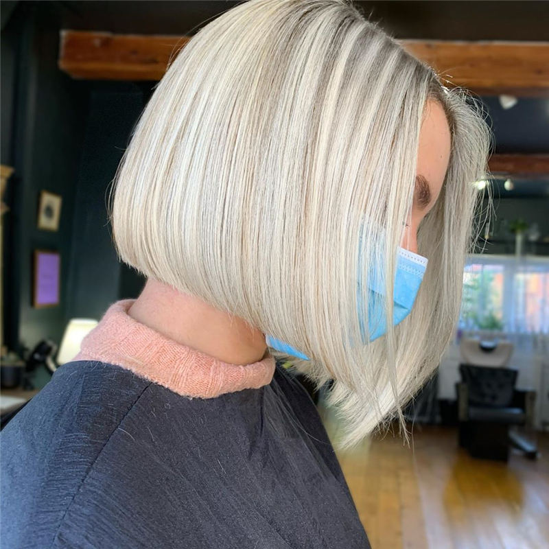 Amazing Blunt Bob Hairstyles Youd Love to Try in 2021 24