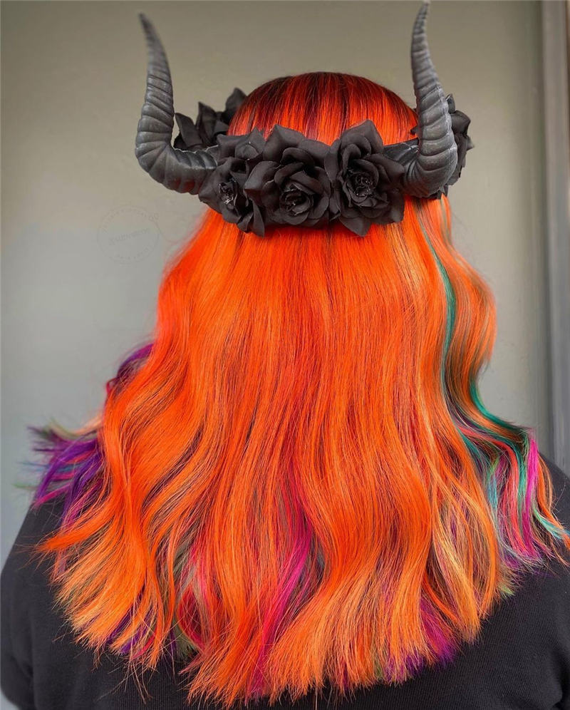 Gorgeous Halloween Hairstyles For Women in This Fall 12