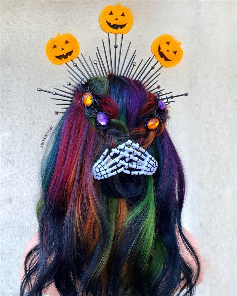 Gorgeous Halloween Hairstyles For Women in This Fall 17