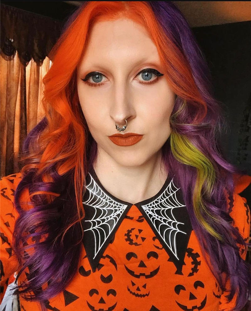 Gorgeous Halloween Hairstyles For Women in This Fall 43
