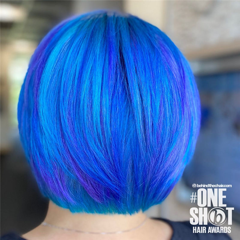 Short Blue Haircuts That Will Trend in 2021 06