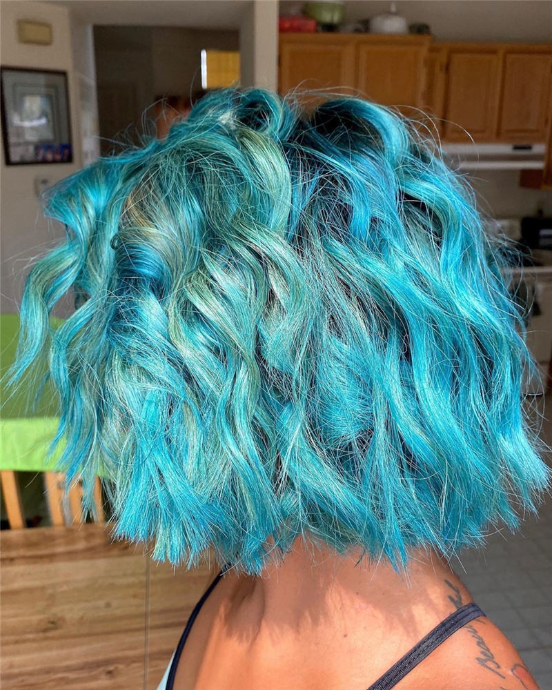Short Blue Haircuts That Will Trend in 2021 09