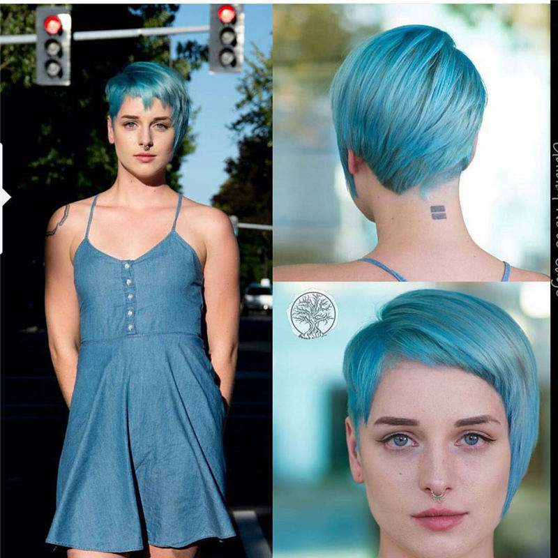 Short Blue Haircuts That Will Trend in 2021 10