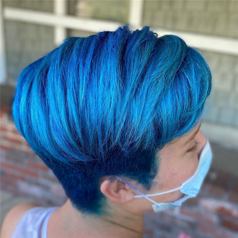 Short Blue Haircuts That Will Trend in 2021 16