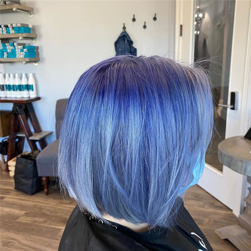 Short Blue Haircuts That Will Trend in 2021 17