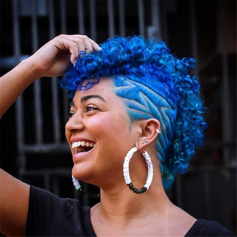 Short Blue Haircuts That Will Trend in 2021 18