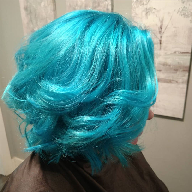 Short Blue Haircuts That Will Trend in 2021 25