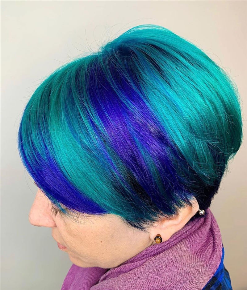 Short Blue Haircuts That Will Trend in 2021 31