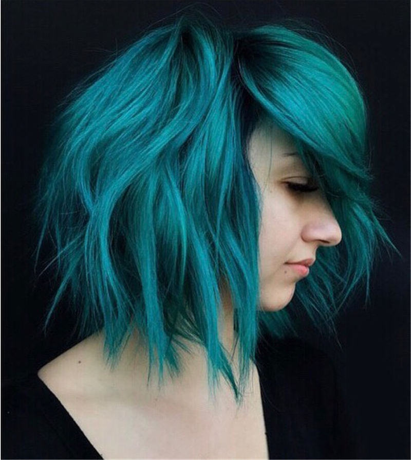 Short Blue Haircuts That Will Trend in 2021 33