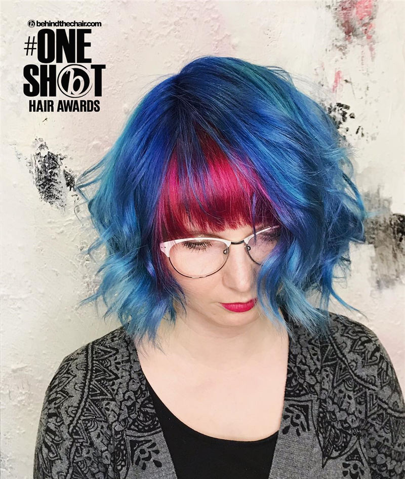 Short Blue Haircuts That Will Trend in 2021 35