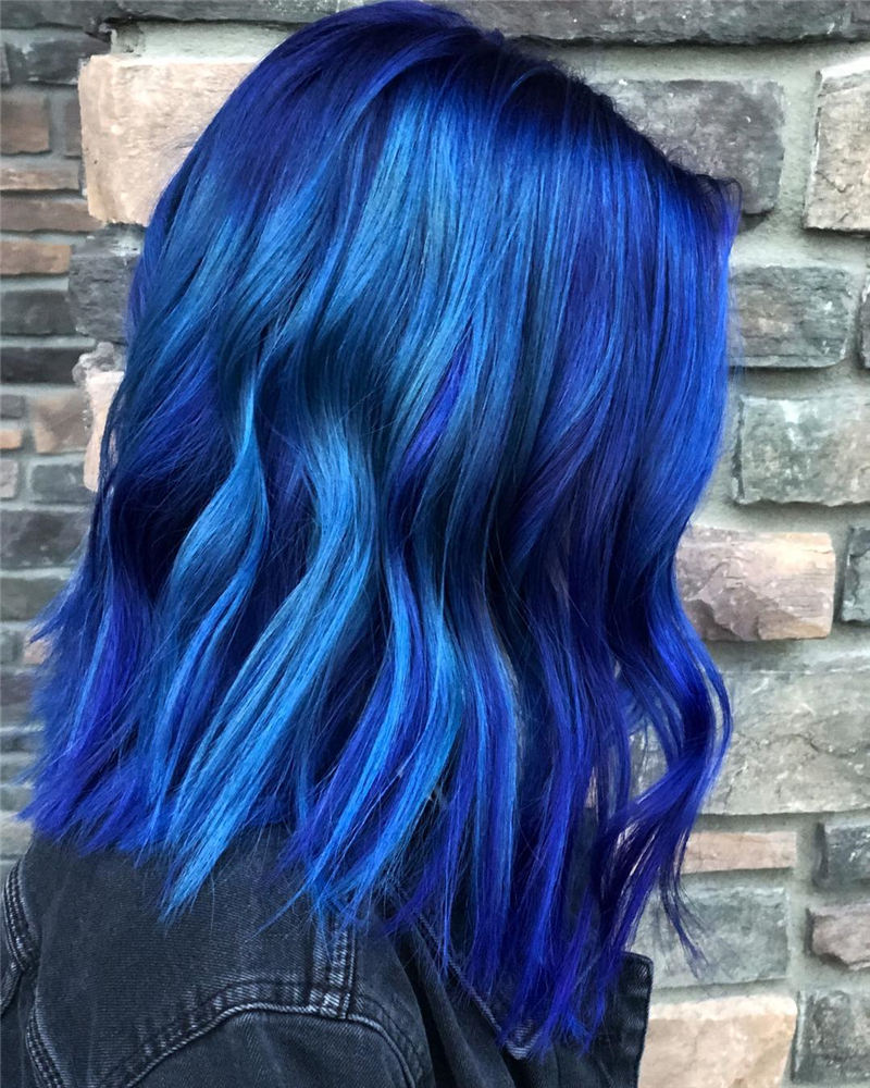 Short Blue Haircuts That Will Trend in 2021 38