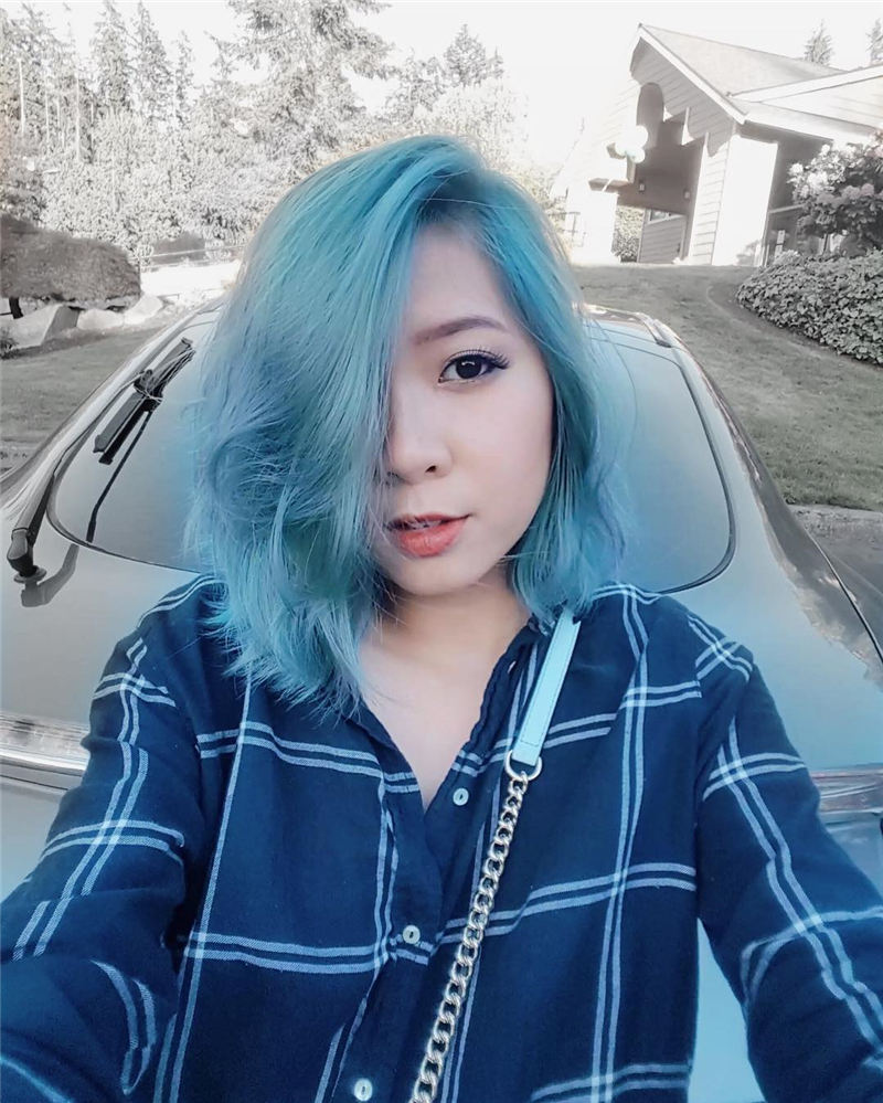 Short Blue Haircuts That Will Trend in 2021 40