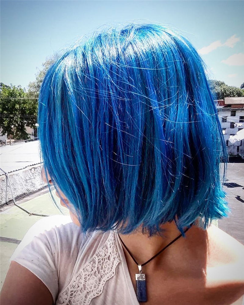 Short Blue Haircuts That Will Trend in 2021 41