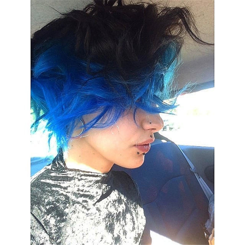 Short Blue Haircuts That Will Trend in 2021 42