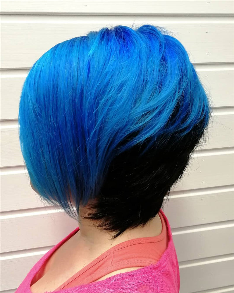 Short Blue Haircuts That Will Trend in 2021 47