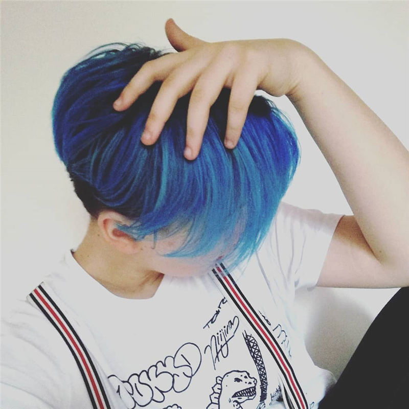 Short Blue Haircuts That Will Trend in 2021 50