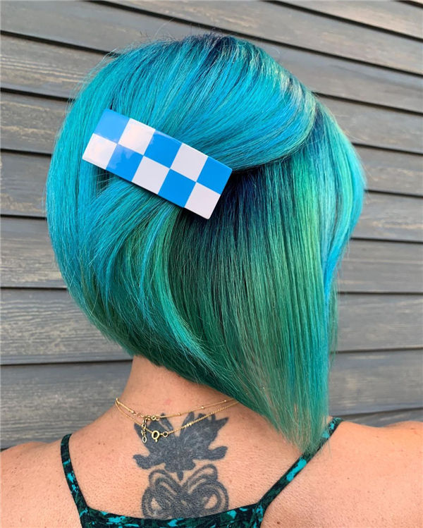Blue Green Hair Color