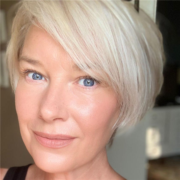 Grey Short Hair for Old Women