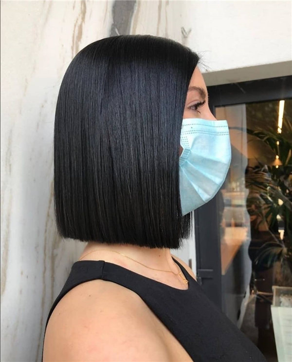 Black Shoulder Length Bob