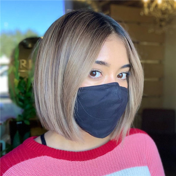 Blunt Bob with Shadow Roots