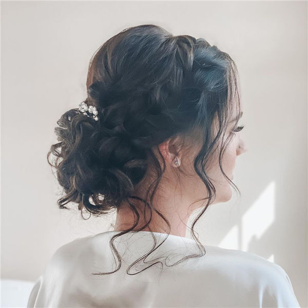 Messy Updo Hairstyle