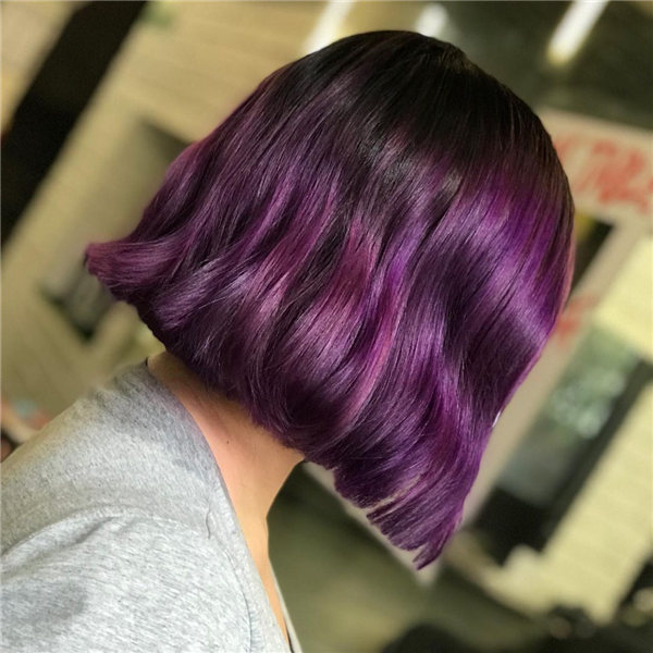 Purple Short Hair