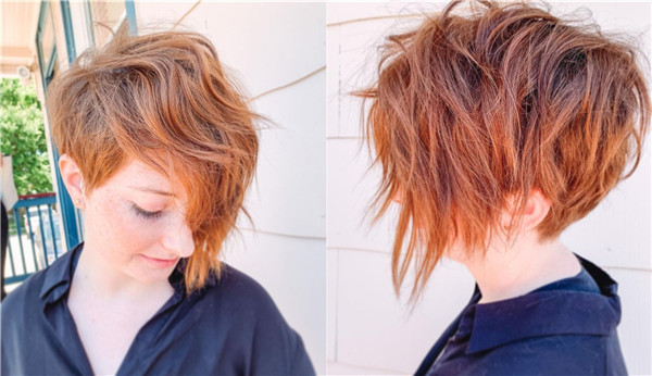 Red Textured Pixie