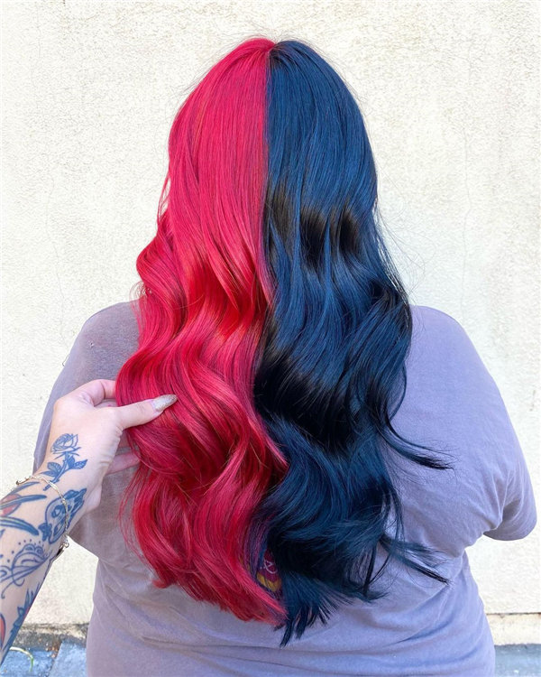Red and Black Long Hair