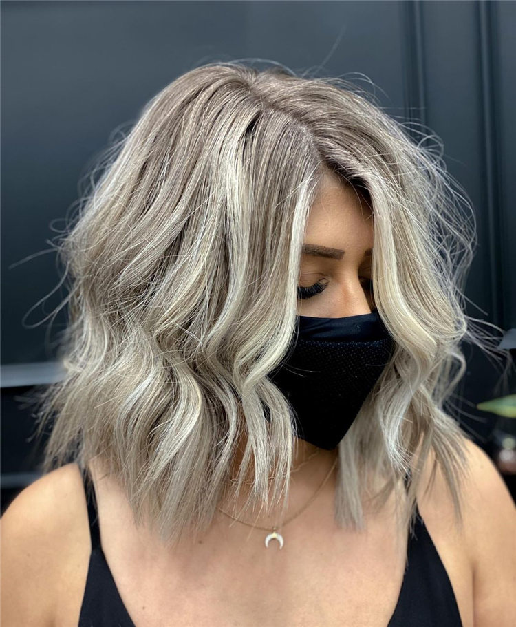 Silver Blonde Thick Hair