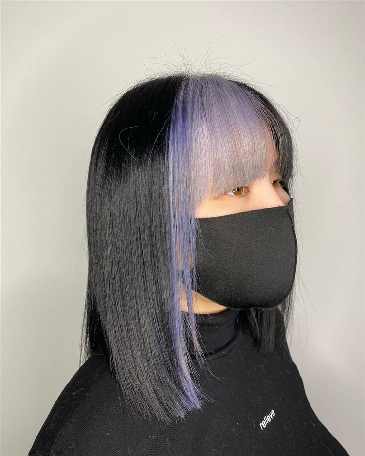 Black and Purple Hair Colors