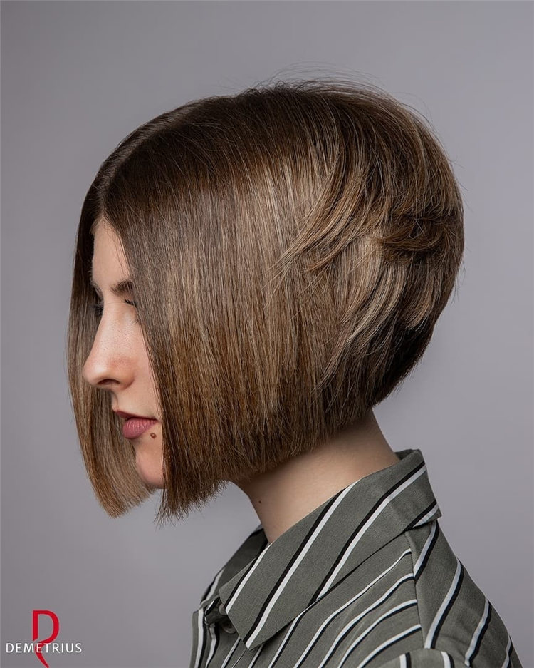 Incredible Short Inverted Bob Haircuts to Get You Inspired in 2021 11