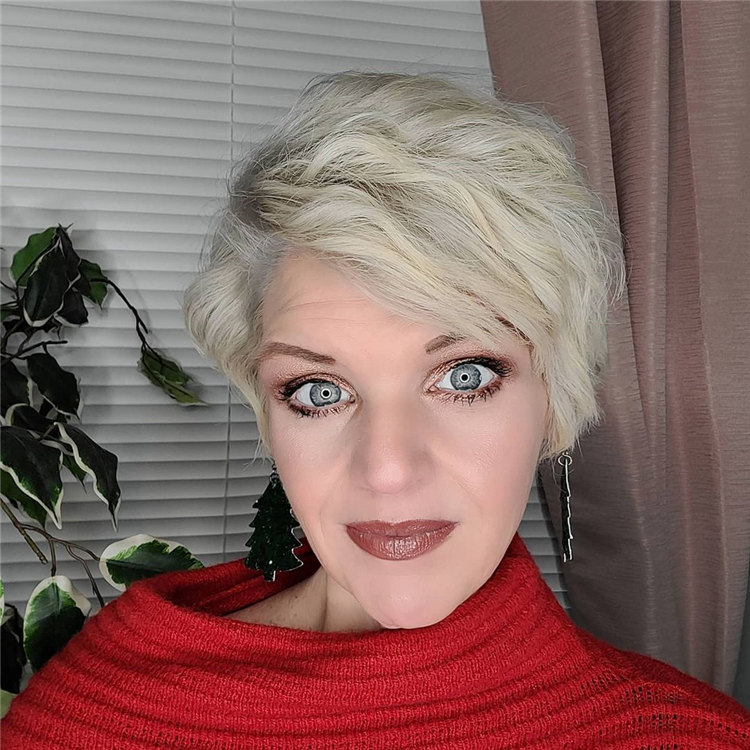 Side Parting Pixie Haircut