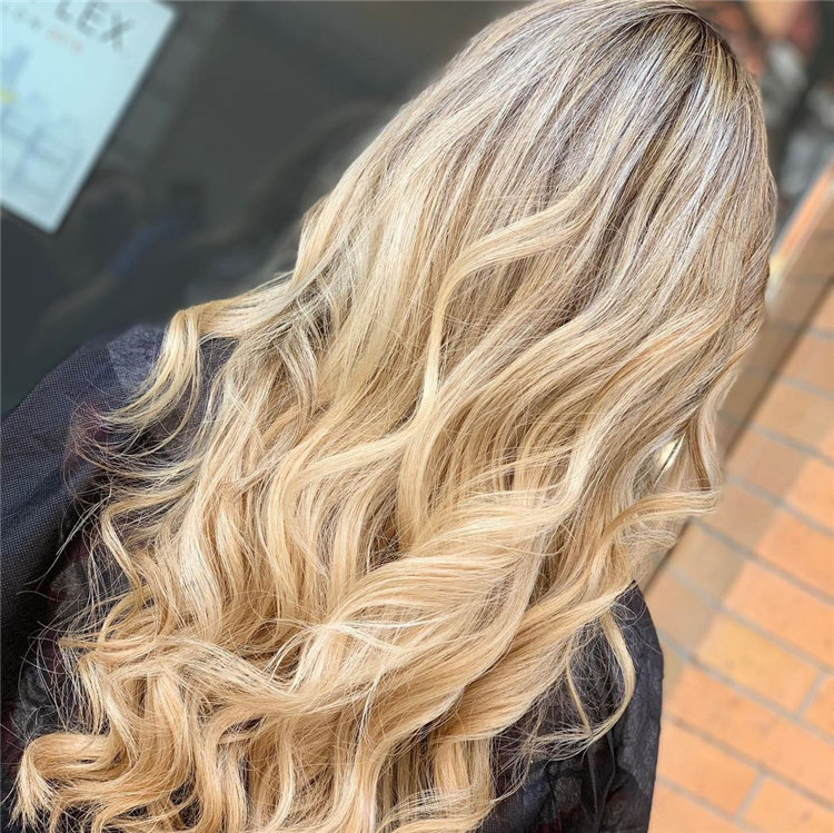 Blonde Hair with Highlights