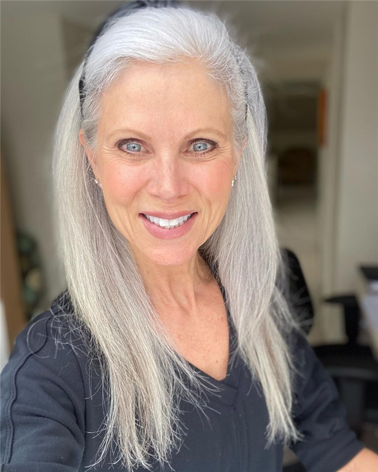 Clean Long Grey Hair