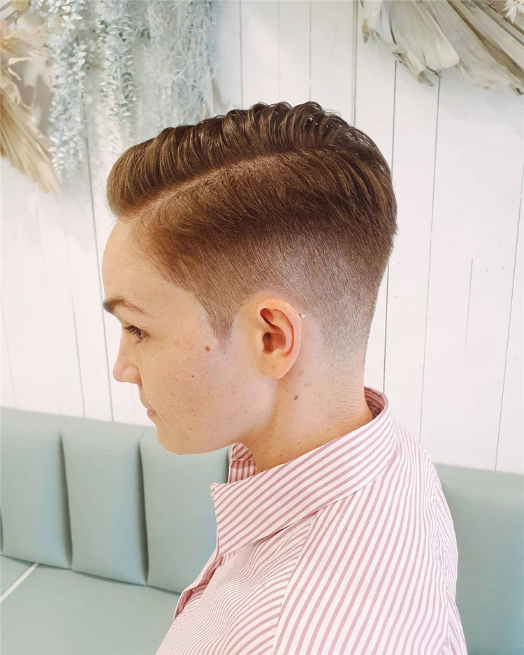 Fade Side Parting